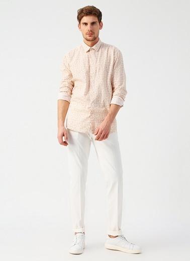 Cotton Bar Pantolon Beyaz